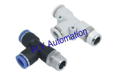China Rápida abrazadera PD Pisco Tee Zinc latón neumática tubo conexiones de bifurcación proveedor