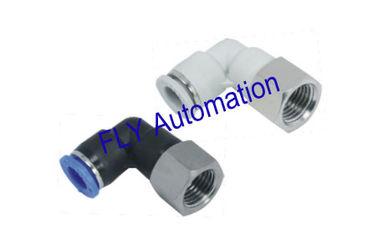 China Rápida abrazadera FLP Pisco hembra codo Zinc latón métrica conexiones de tubo neumático proveedor