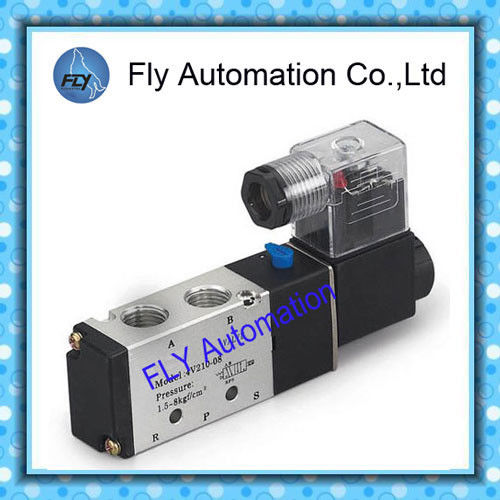 Good Tightness And Sensitive Reaction 5/2 Way Airtac 4V210-06 4V210-08 Pneumatic Solenoid Valves