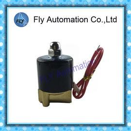 China Válvulas electromagnéticas del agua de actuación directa IP65 con el sello de NBR PTFE Seat, grado continuo del ciclo de trabajo el 100% distribuidor