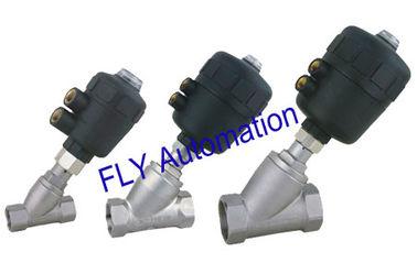 China 2000 roscó el actuador neumático integrado válvula del PA de Seat del ángulo de la manera del puerto 2/2 distribuidor